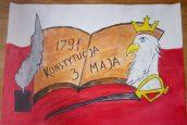 Rocznica Konstytucji 3-Maja wpracach uczniów klasy czwartej