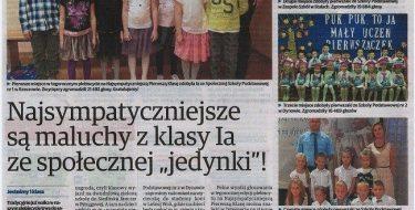 """Nasze Pierwszaki laureatami wplebiscycie """"Nowin"""""""