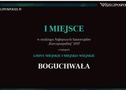 """Gmina Boguchwała zwycięzcą Rankingu Samorządów """"Rzeczpospolitej"""""""