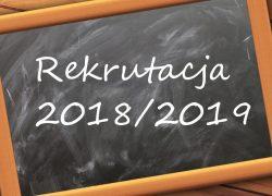 Zapisy dzieci doklasy pierwszej narok szkolny 2018/2019