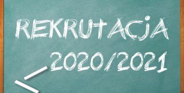 Lista kandydatów zakwalifikowanych doprzyjęcia doklasy pierwszej wroku szkolnym 2020/2021 – komunikat dyrektora szkoły